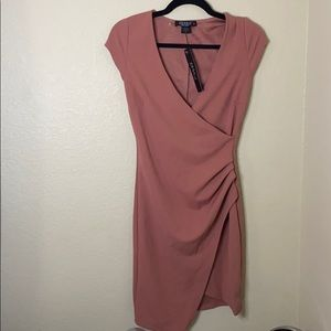 New with tags stretchy fitted rose pink dress!